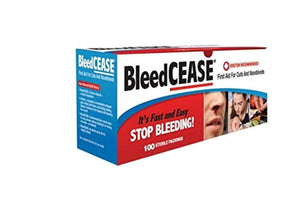 BleedCEASE First Aid, 5 count or 100 Count