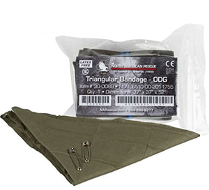 NAR Triangular Bandage With 2 PINS - Olive Drab Green - Prevent4life