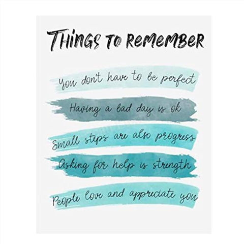 """Things To Remember To Make Life Better""- Wall Art- 8 x 10"" Print"