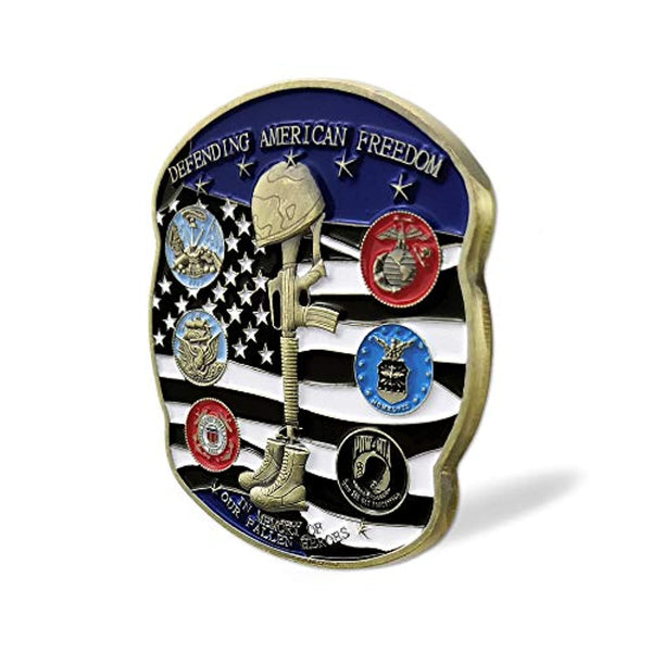 US Proud Military Family Veterans Challenge Coin in Memory of Our Fallen Heroes
