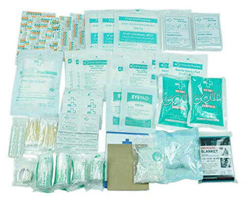 160 Piece First Aid Kit Bag Refill Kit - Prevent4life