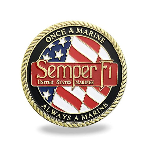 US Marine Corps Challenge Coin Creed of Semper Fidelis