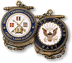 U.S. Navy Recruit Training Command Great Lakes Illinois Challenge Coin