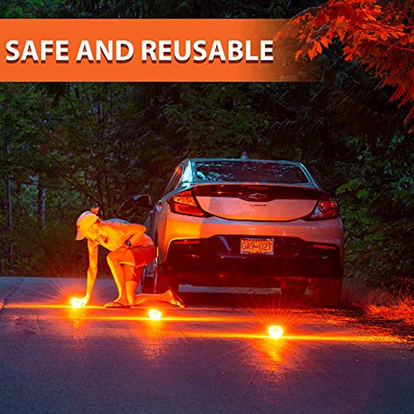 HOKENA LED Road Flares Emergency Lights/Accessories Kit (Battery Operated) - Prevent4life