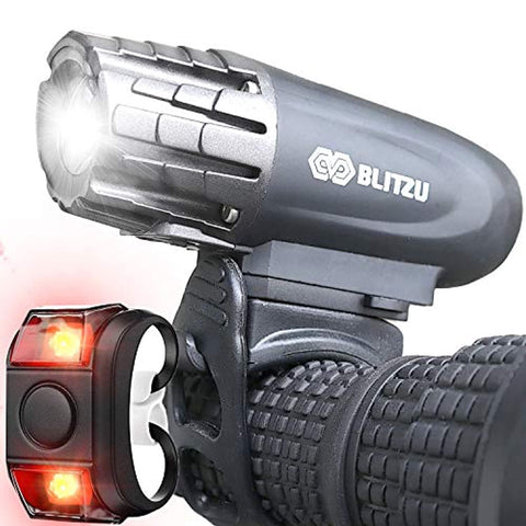BLITZU Gator 320 USB Rechargeable Bike Light Set With Powerful Lumens - Prevent4life