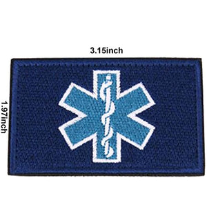 2PCS EMT/Paramedic Star of Life Tactical Patch