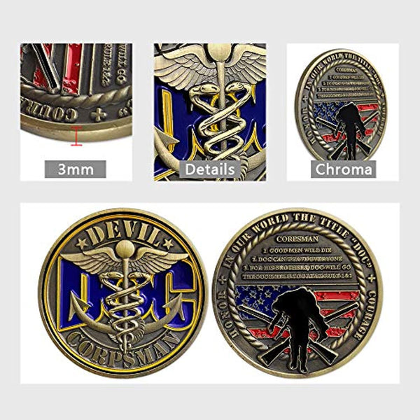 Navy Corpsman DOC Challenge Coin - Prevent4life