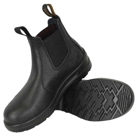 Blundstone - #330 Elastic Sided Black Leather Slip On Boot - Steel Cap - Surplus City