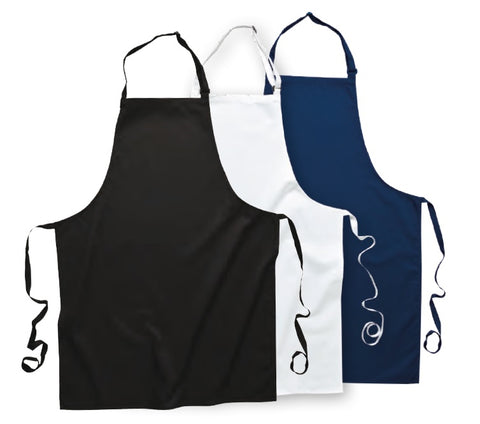 Portwest - S841 PolyCotton Bib Apron - Black - White - Navy