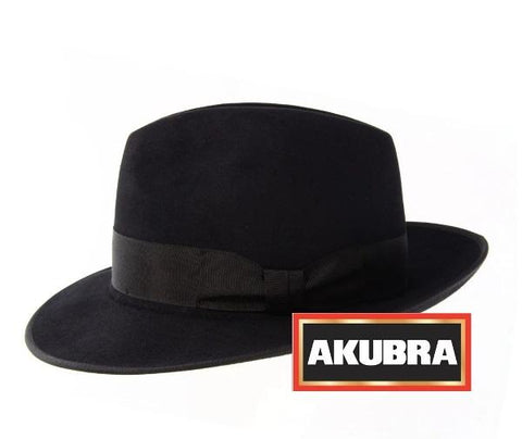 Akubra - Bogart Hat - Black - Surplus City