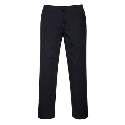 Portwest - C070 - Chef Drawstring Trousers - Black