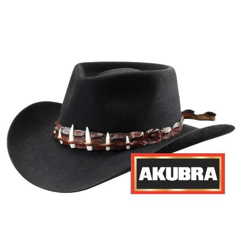 Akubra - The Croc Hat - Black - Surplus City