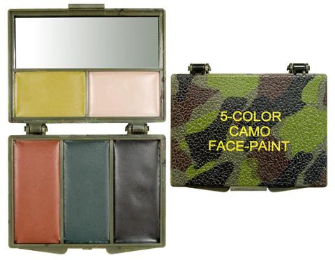 Camo Face Paint Compact - 5 Colours - Surplus City
