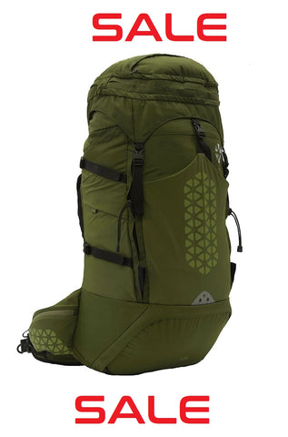 Boreas - Halo - 65L- Hydration Compatible Backpack - Halo Green - Halo Grey
