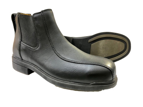 Blundstone - #782 Black Leather Elastic Sided Steel Cap Boots - Surplus City
