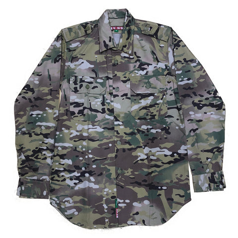 Long Sleeve Button Up Combat Shirt - Multicam