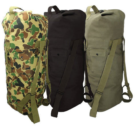 KB-5 - Top Load Backpack Duffel Bag - Olive Drab / AUSCAM / Black