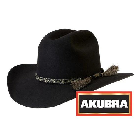Akubra Rough Rider Hat - Black