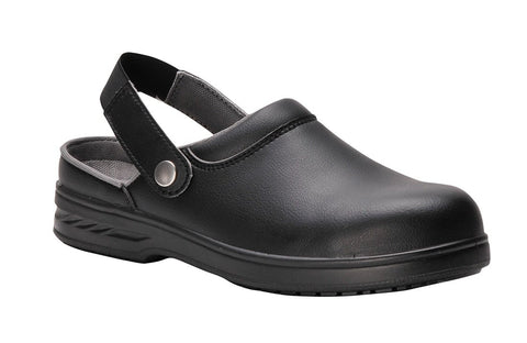 Portwest - FW82 - Safety Clog Chef Shoes - Black - Surplus City