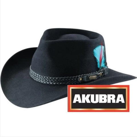 Akubra - Snowy River Hat - Black / Santone - Surplus City