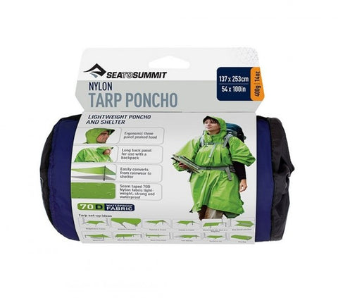 Sea to Summit - Nylon Tarp Poncho 137cm x 253cm - Navy / Green