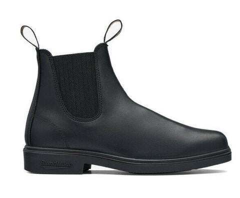 Blundstone - #663 Elastic Sided Black Dress Leather Slip On Boot - Non Safety