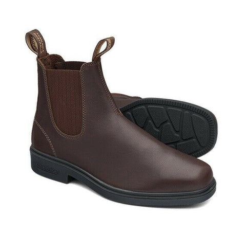 Blundstone - #659 Elastic Sided Brown Dress Leather Slip On Boot - Non Safety