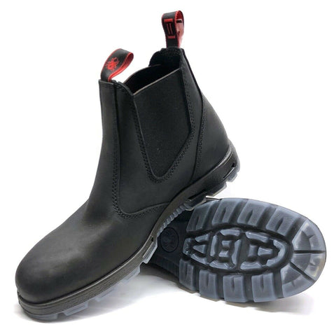 Redback - UBBK Elastic Sided Black Leather Slip On Boot - Non Safety - Surplus City