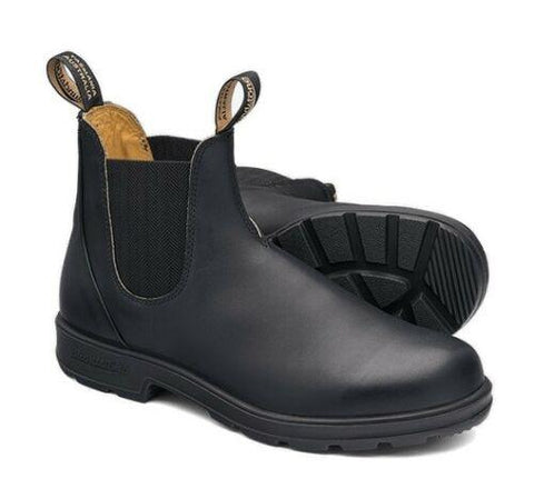 Blundstone - #610 Elastic Sided Black Leather Slip On Boot - Non Safety