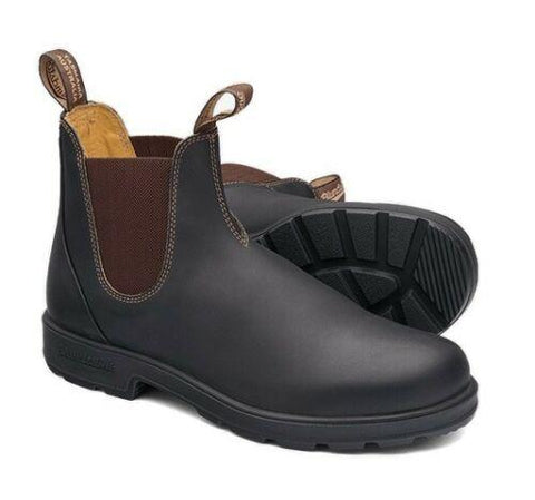 Blundstone - #600 Elastic Sided Brown Leather Slip On Boot - Non Safety - Surplus City