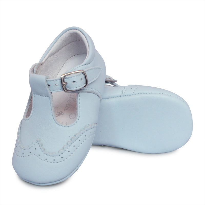Borboleta Blue Leather Alex Boys Shoe 104