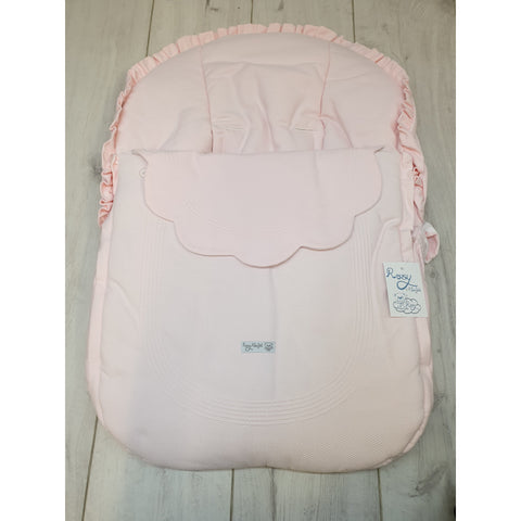 Rosy Fuentes Pink Reversible Spot Car Seat Cover