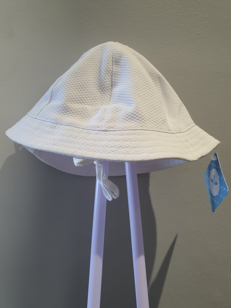 Sardon White Piquet Bucket Sun Hat 19AB-23
