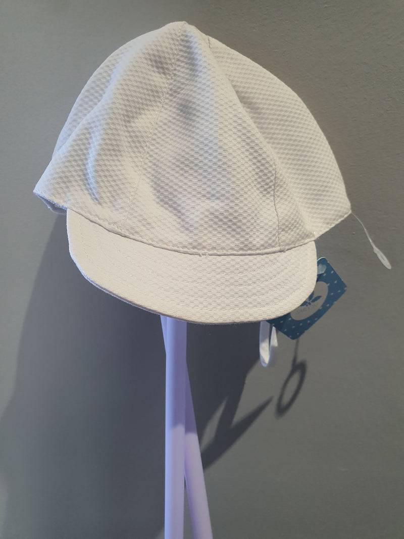 Sardon White Piquet Cap Sun Hat 19AB-23