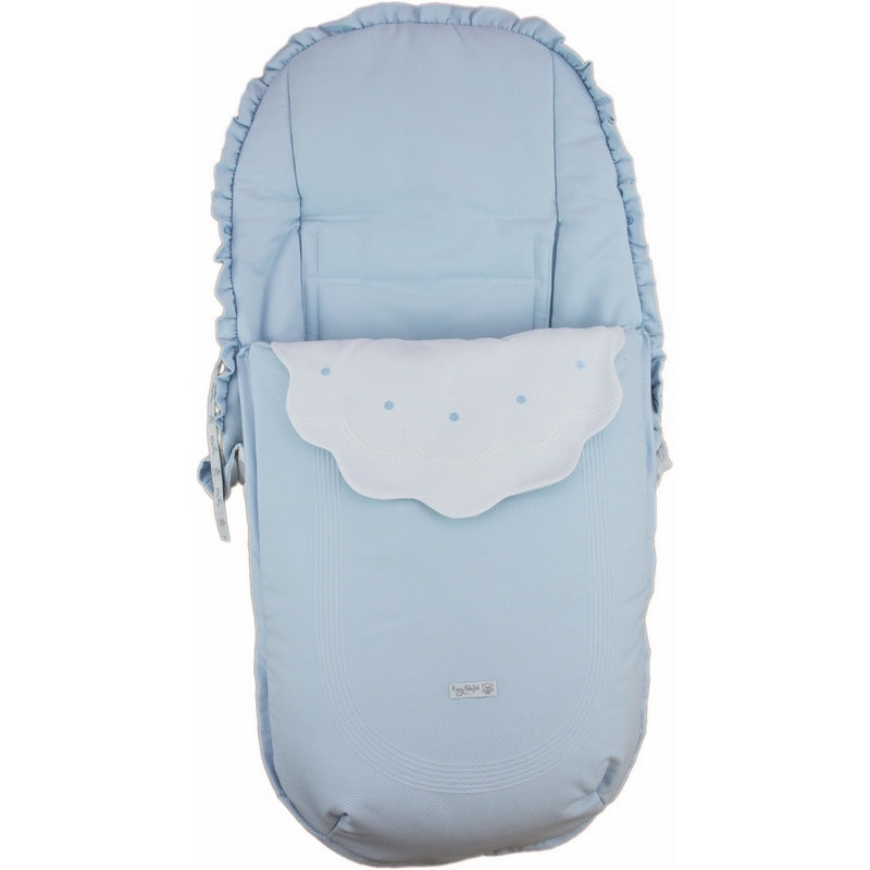 Rosy Fuentes Reversible Pushchair Footmuff White/Blue 72175