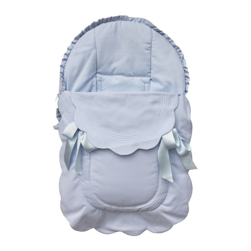 Rosy Fuentes Scallop Blue Car Seat Cover 7601