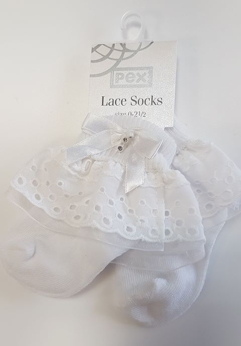 Pex White Ankle Sock Jane