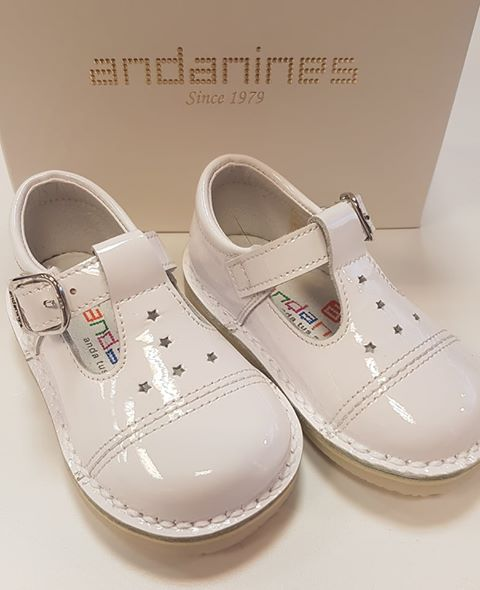 Andanines White T Bar Shoe 191841
