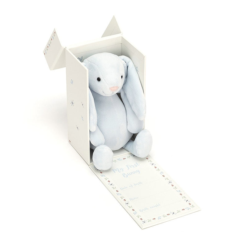 Jelly Cat Bashful bunny Blue Boxed