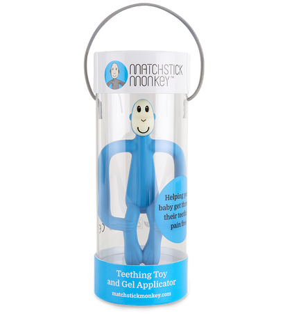 Pale Blue Monkey Teething Toy-Young Trend Boutique