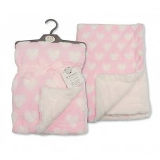 Snuggle Baby Pink hearts wrap/blanket. 1001