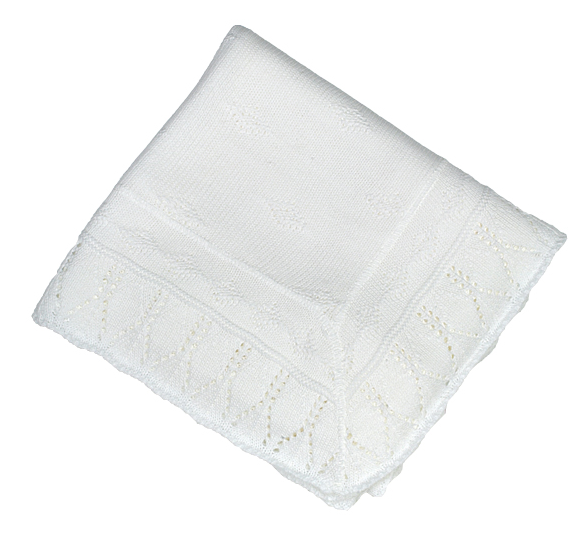 Baby Shawl White A1082