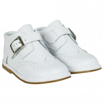 Boys leather boot. White or Blue. Chico 1165-Young Trend Boutique