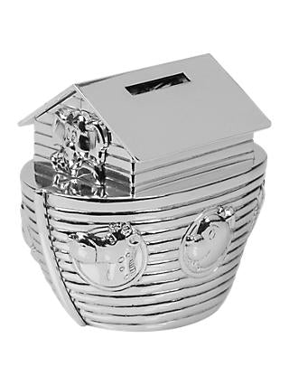 Bambino Silver plated Noahs Ark Money Box