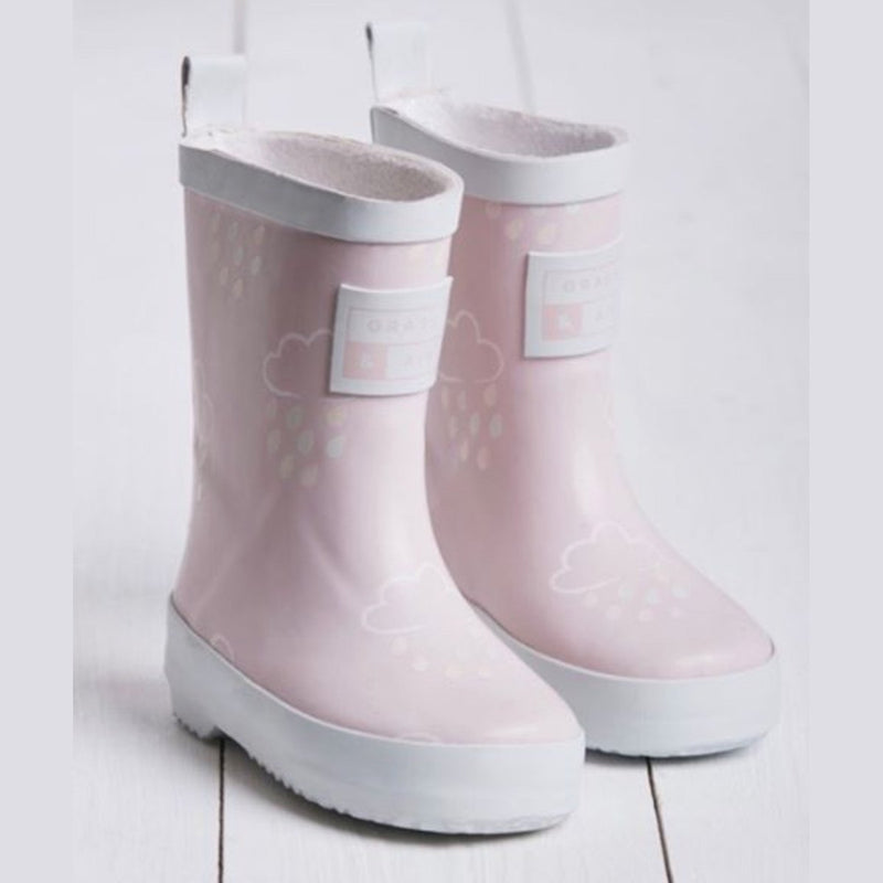 Grass and Air Wellies Pink-Young Trend Boutique