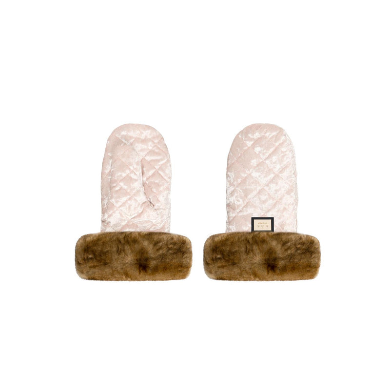 Handmuffs, Pink Velvet-Young Trend Boutique