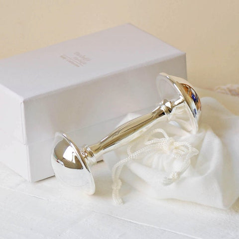 Bambino Silver Plated Luxury Baby Rattle