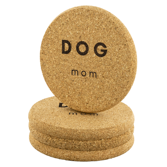 Dog Mom Cork Coaster