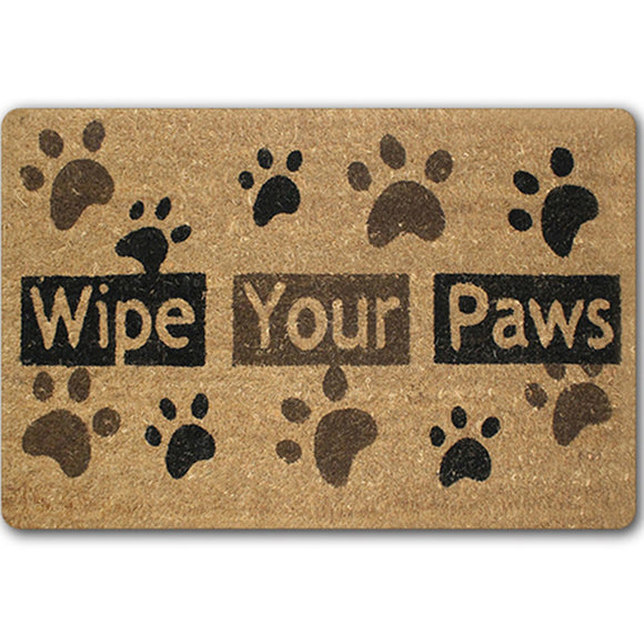 Wipe Your Paws Clean Door Mat