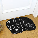Dog Silhouette Welcome Mat